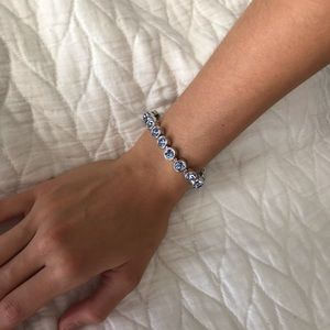 Vintage Denim Blue ice Bracelet Touchstone Crystal